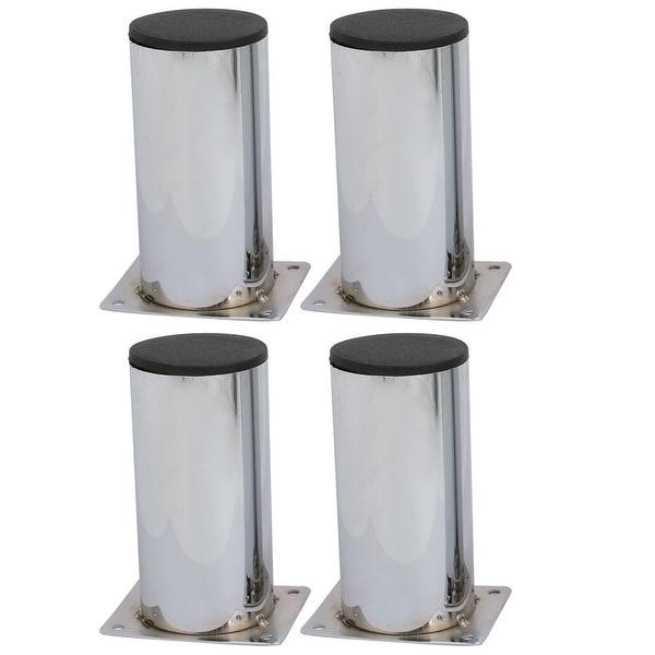 60mmx120mm Metal Cylindrical Shape Furniture Cabinet Leg Feet 4pcs
