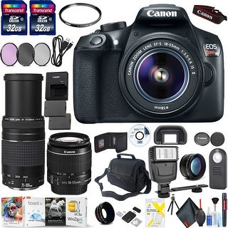 Canon Rebel T6 Camera & 18-55mm Lens Filters and Bag Combo
