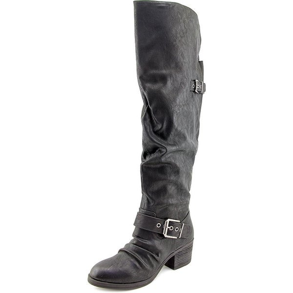 Carlos by Carlos Santana Emily Round Toe Synthetic Over the Knee Boot