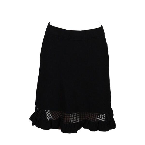 e3933678748 Shop Rachel Rachel Roy Black Mixed-Media Sweater Skirt S - Free ...