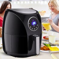 Costway 1400W Electric Air Fryer 3.4 Quart LCD Touch Screen Timer & Temperature Control