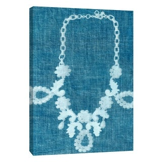 "PTM Images 9-109060  PTM Canvas Collection 10"" x 8"" - ""Cyanotype F"" Giclee Jewelry Art Print on Canvas"