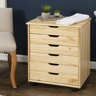 Link to Bridgton Six Drawer Wide Roll Cart Similar Items in Painting