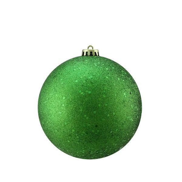 "Xmas Green Holographic Glitter Shatterproof Christmas Ball Ornament 6"" (150mm)"