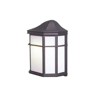 Woodbridge Lighting 60012WL-RTP 1 Light Outdoor Wall Sconce with Frosted Glass and Bulb Included from the Energy Saving