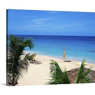"""""""Tropical beach"""" Canvas Wall Art"""