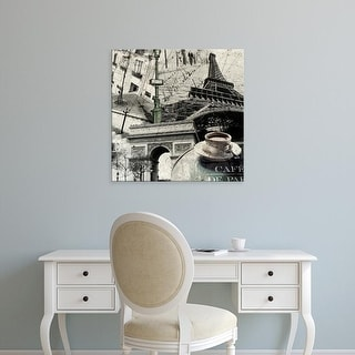 Easy Art Prints GraphINC's 'Paris' Premium Canvas Art