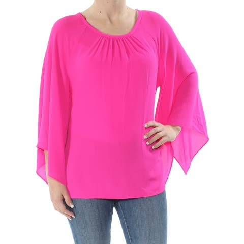c2286f54aad4 SALE. VINCE CAMUTO Womens Pink Kimono Sleeve Scoop Neck Blouse Top Size: S
