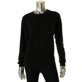 MICHAEL Michael Kors Womens Textured Banded Bottom Sweatshirt