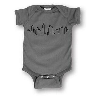 City Skyline Simple Design Nyc Seattle Chicago La Fashion Baby Infant One Piece