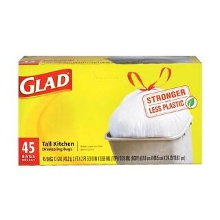 Glad 78362 Tall Kitchen Drawstring Bags, 13 Gallon