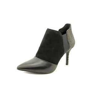 Enzo Angiolini Conroe Women Pointed Toe Suede Black Bootie
