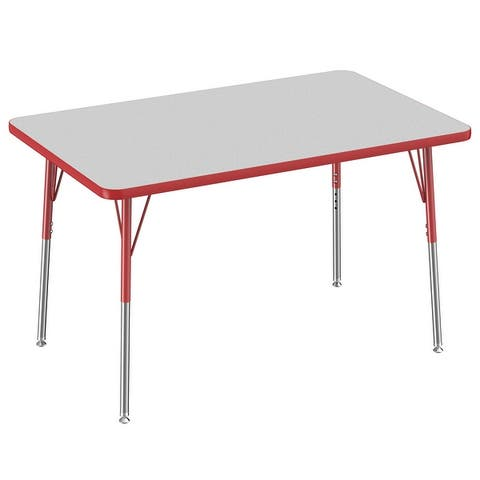 """30"""" x 48"""" Rectangle Activity Table with Adjustable Swivel Glide Legs"""