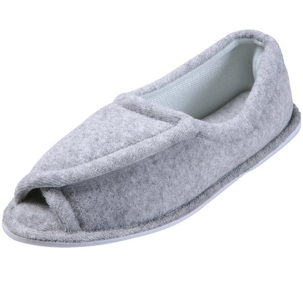 Women's Clinic Comfort Terry Cloth Slippers - Grey