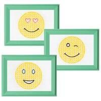 "Smiling Faces - Stamped Embroidery Kit Beginner Samplers 6""X8"" 3/Pkg"