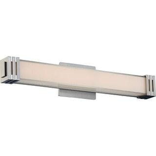 "Platinum PCVT8524 Valiant 1 Light 24"" Wide Bath Bar with Glass Rectangle Shade"