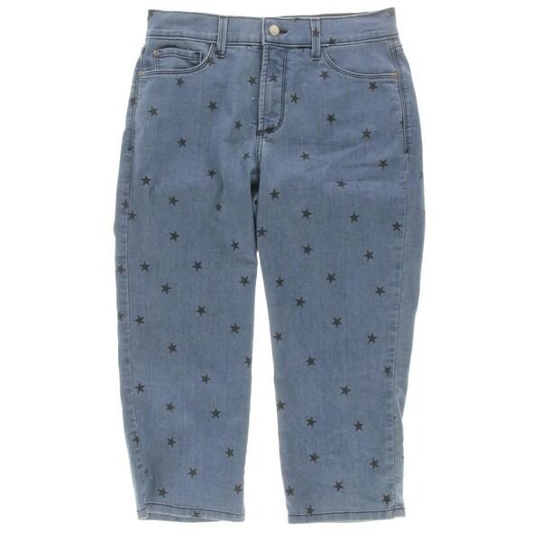 22c5c00df36 Shop NYDJ Womens Ariel Slim Jeans Star Printed Ariel Crop - Free ...