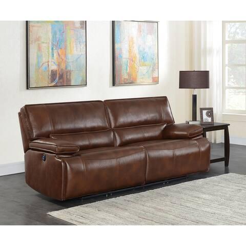 Southwick Saddle Brown Pillow Top Arm Power Sofa