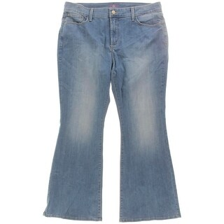 NYDJ Womens Petites Flare Jeans Light Wash Slimming Fit - 16p