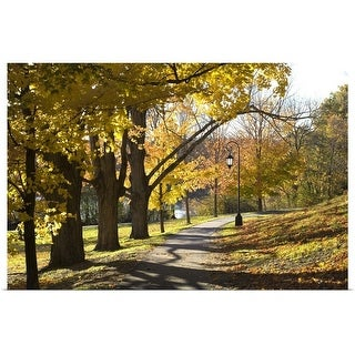 """""""Walkway in fall, New England"""" Poster Print"""