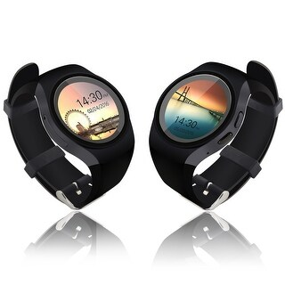 Indigi® A18 SmartWatch & Phone - Bluetooth 4.0 + Pedometer + Heart Rate Sensor + Sleep Monitor (3G Factory Unlocked) - Black