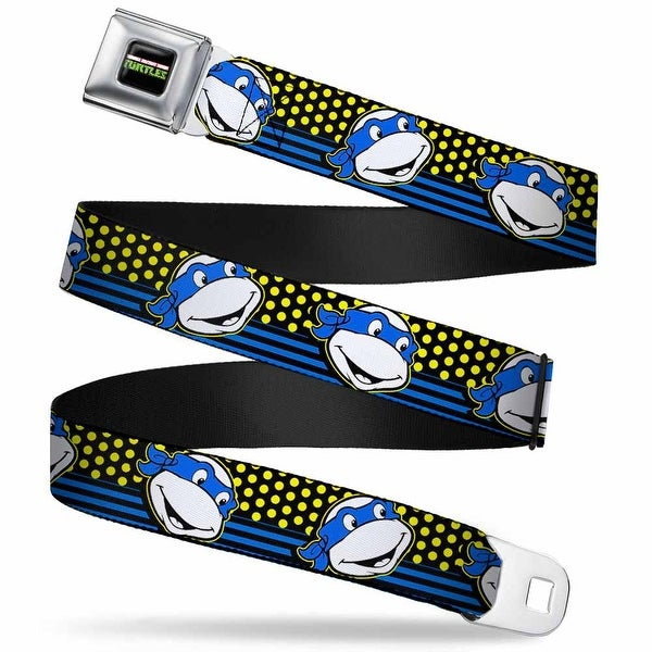 Classic Tmnt Logo2 Full Color Classic Tmnt Leonardo Expression Dots Stripes Seatbelt Belt