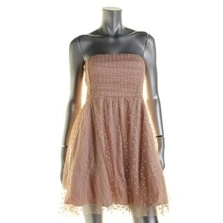 Stacy Sklar Womens Juniors Party Dress Swiss Dot Strapless - 3