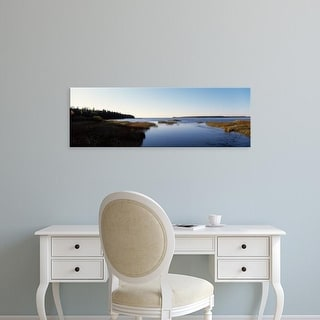 Easy Art Prints Panoramic Images's 'Lake at morning, Eastern shore, Door County, Wisconsin, USA' Premium Canvas Art