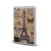 Plastic Eiffel Towel Pattern Back Protect Shell Case Cover for iPad Mini 1/2/3