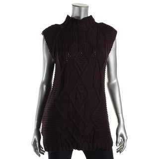 Cotton by Autumn Cashmere Womens Knit Sleeveless Pullover Sweater