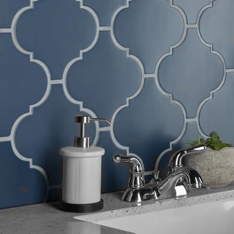 "SomerTile Provenzale Lantern Bleu 8"" x 8"" Porcelain Floor and Wall Tile"