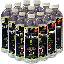Bluworld Nu-Flame Bio-Ethanol Fuel, 12-Pack