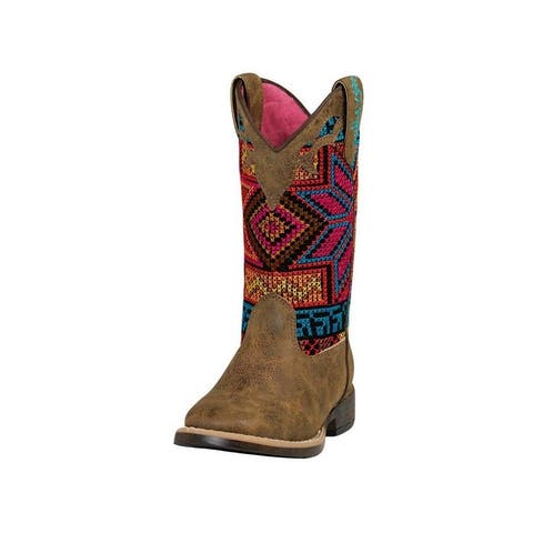 Blazin Roxx Western Boots Girls Hailey Floral Square Toe