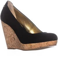 TS35 Miaa Platform Wedge Pumps, Black