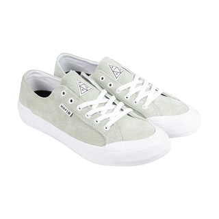 HUF Classic Lo Mens Green Suede Lace Up Sneakers Shoes