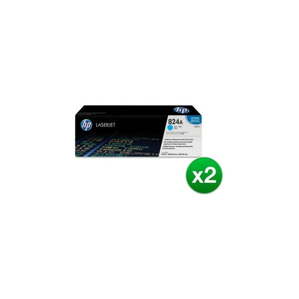 HP 824A Cyan Original LaserJet Toner Cartridge (CB381A)(2-Pack)