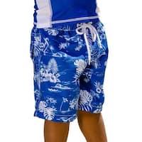 Sun Emporium Baby Boys Navy Aloha Print Board Shorts