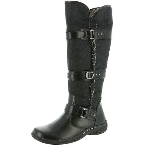 Wanderlust Womens Gabrielle Winter Boots Faux Fur Lined Mid Calf