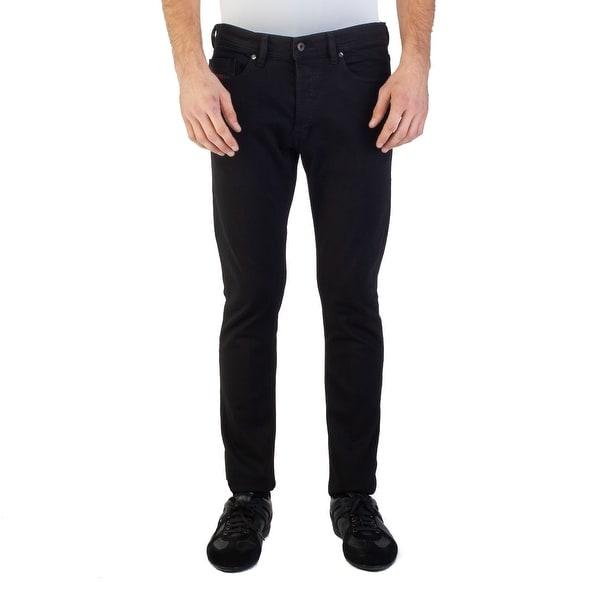 9b61c9ef Diesel Men's Slim-Carrot Fit Tepphar RDS05 Stretch Jean Pants Black