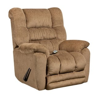 Offex Massaging Temptation Fawn Microfiber Recliner with Heat Control [OF-AM-H9560-6450-GG]