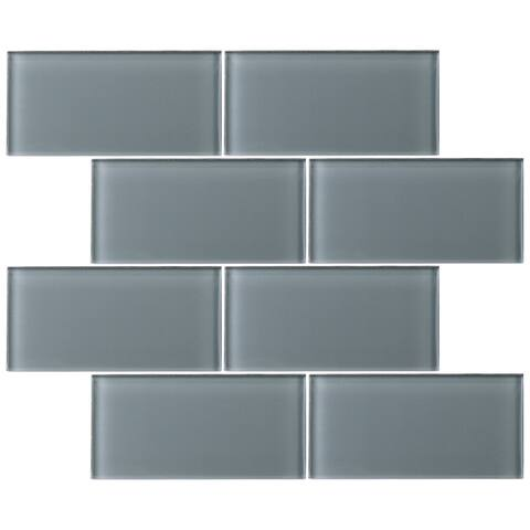 3 X 6 Gl Subway Tile In Gray Wall 80