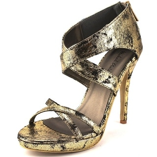Michael Antonio Tamzah Open Toe Canvas Platform Heel