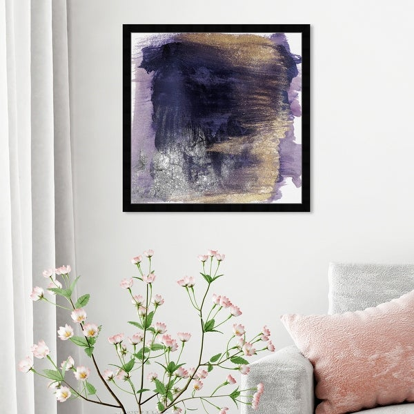 Oliver Gal 'Cressida Amethyst' Abstract Framed Wall Art Prints Watercolor - Purple, Purple. Opens flyout.