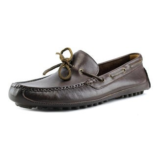 Cole Haan Grant Canoe Camp Moc Men Round Toe Leather Brown Loafer