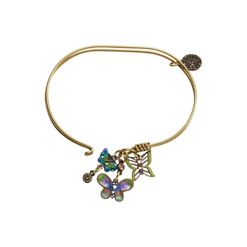 Anne Koplik Designs Bangle Charm Bracelets-Inspirational Jumble Charm Collection – Butterflies