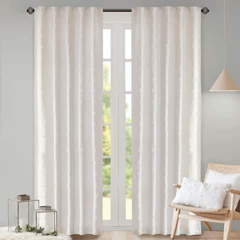 Urban Habitat Maize Cotton Jacquard Rod Pocket Single Window Curtain Panel