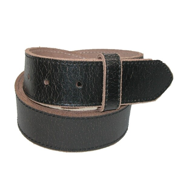 CTM® Men's Vintage Leather Distressed No Buckle Bridle Belt