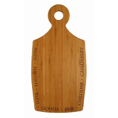 """Totally Bamboo 20-7785 Chubby Cheese Board for Serving Cheeses, 12""""L x 12""""W"""