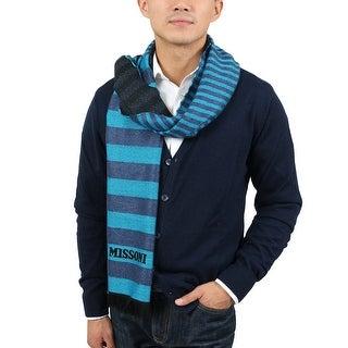 Missoni SC12WMU5078 0003 Turquiose/Blue Wool Blend Scarf - 14.75 - 71