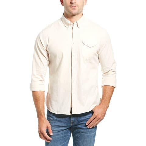 Jachs Shield Pocket Classic Fit Woven Shirt - stone